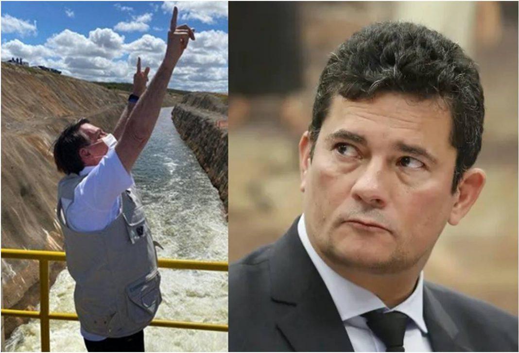 Presença de Bolsonaro em inauguração no Ceará ofusca estreia de Moro em revista