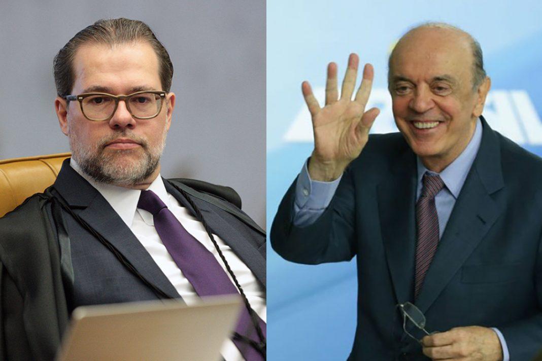 Toffoli, presidente do STF, suspende investigações contra o senador José Serra