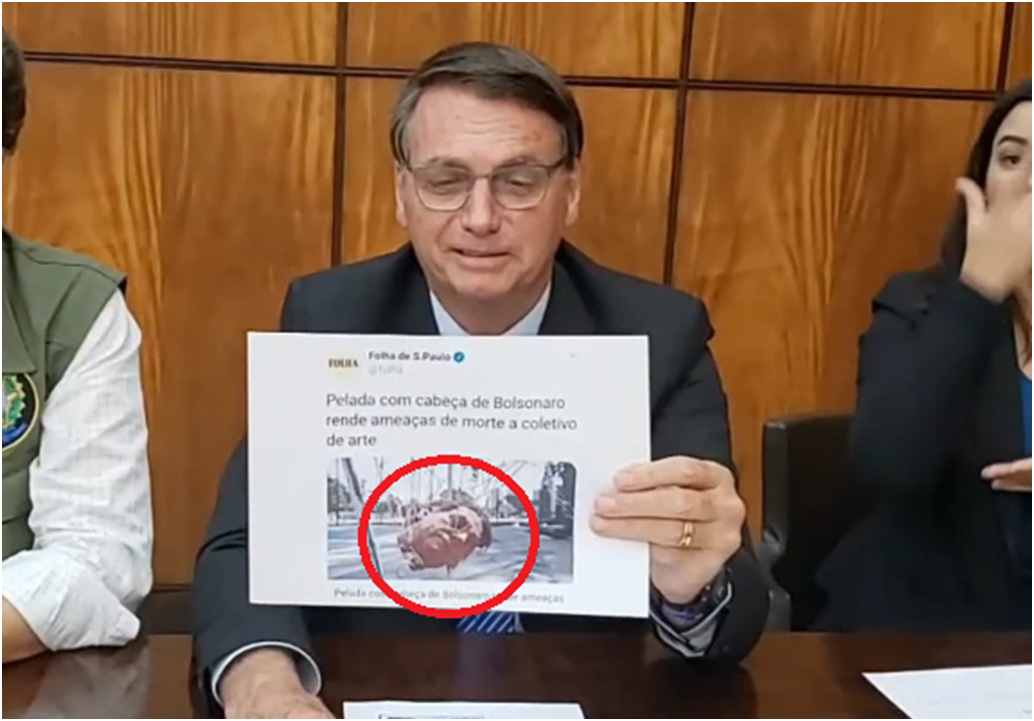 Bolsonaro expõe parcialidade da mídia: