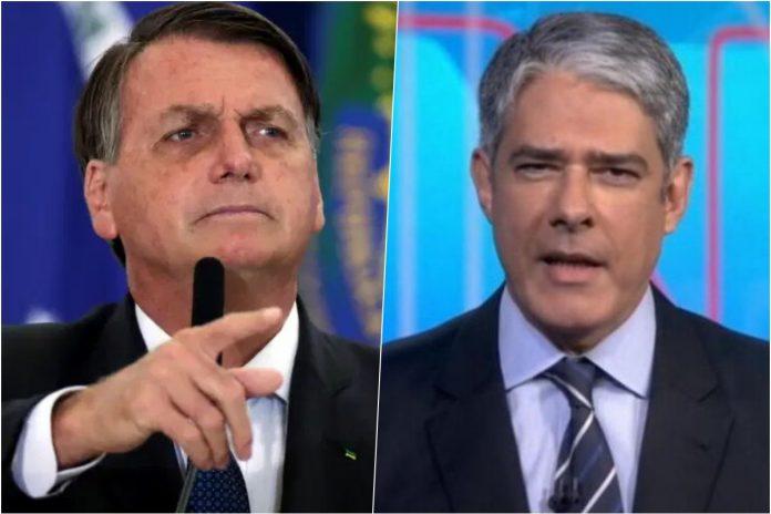 Bolsonaro critica Bonner e o jornalismo da Globo: