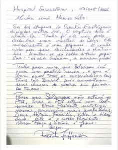 Carta de Roberto Jefferson à Marisa Lobo